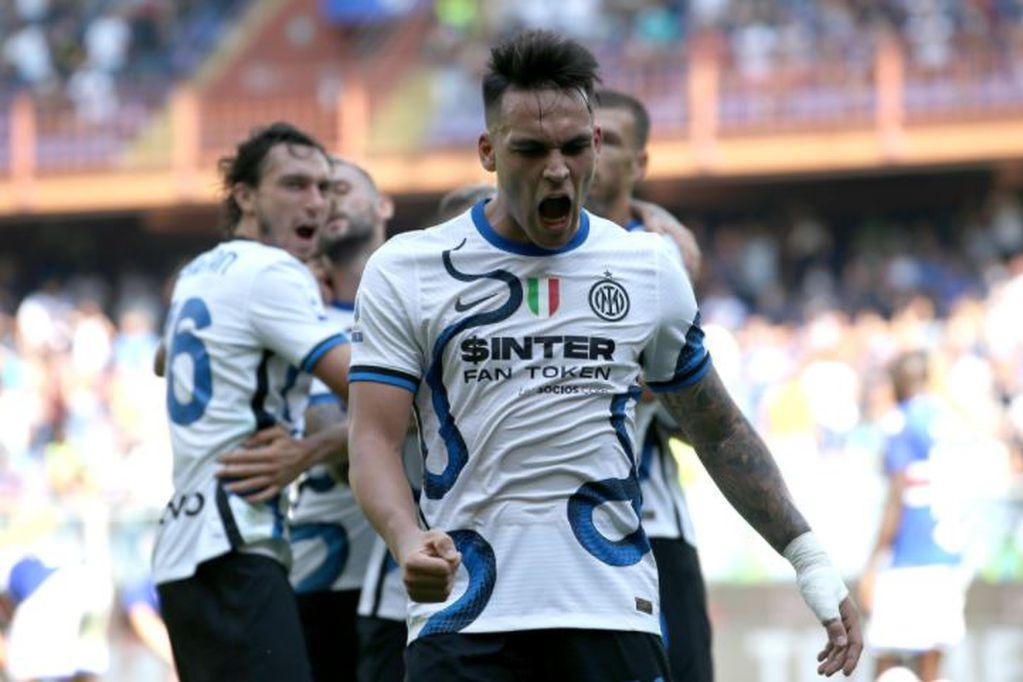 El 'Toro' motivado: con gol de Lautaro Martínez el Inter salvó el punto ante Sampdoria