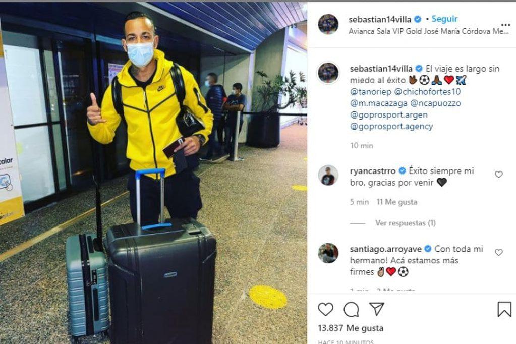 El colombiano Sebastián Villa regresa a la Argentina: el posteo tras los videos en la fiesta
