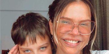 Nazarena Vélez y su hijo Thiago Rodríguez