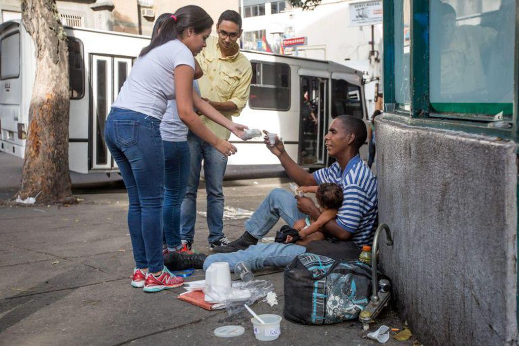 Pobreza extrema en Venezuela. Foto: Miguel Gutiérrez / EFE