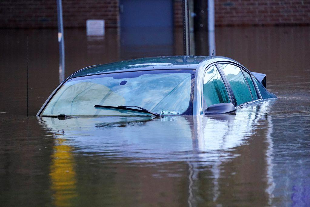 Lluvia en Nueva York: se registró un récord histórico de 80 mm de lluvia en una hora en Central Park (AP)