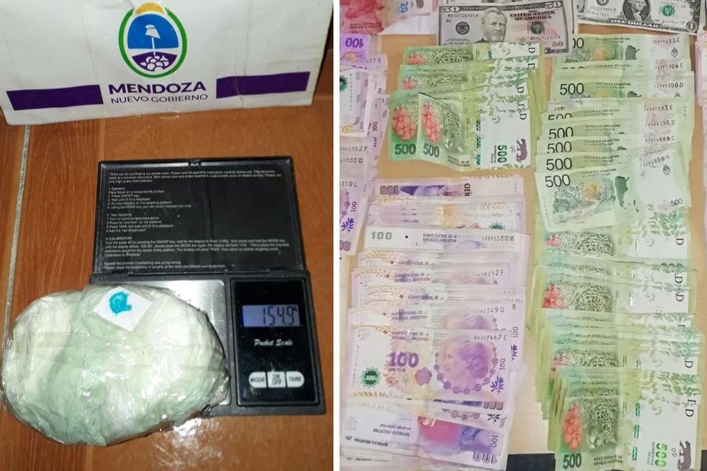 """Mujer """"narco-policía"""" viajó desde Malargüe para comprar droga: la capturaron en Tupungato"""