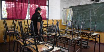 Vacías. Como la Escuela Hortencia Correa Lemos lucen hoy las aulas de Mendoza. Se prevé que no habrá un regreso masivo de alumnos. Mariana Villa / Los Andes