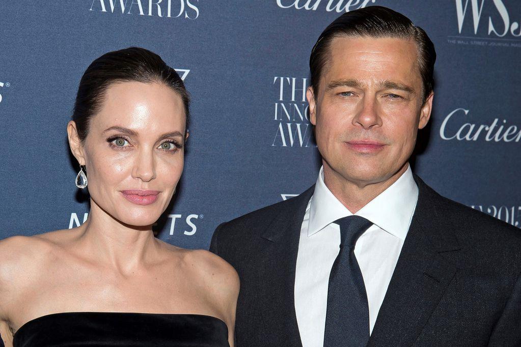 Angelina Jolie y Brad Pitt, en tiempos en los que su matrimonio ya venía en picada. (AP)