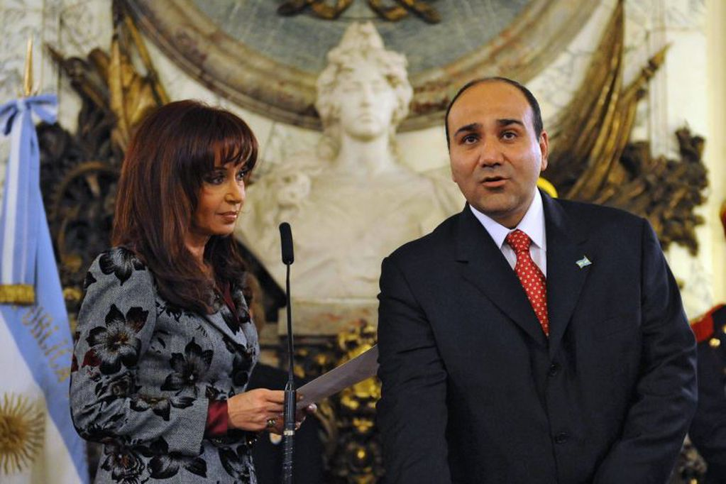 Cristina cuando le tomó juramento a Juan Manzur como ministro de Salud en 2019.