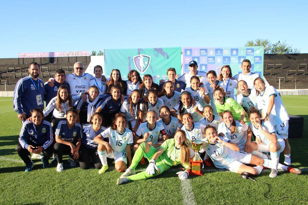 Con tres mendocinas, la Sub17  se consagró campeón del Torneo Internacional Femenino
