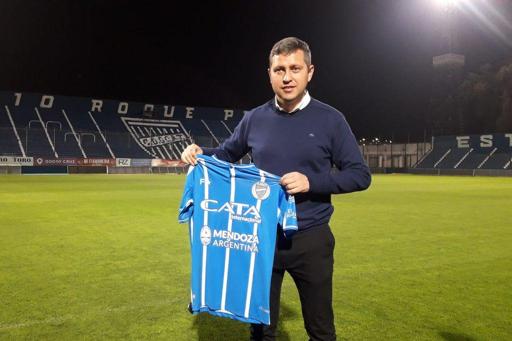 Diego Flores, el nuevo entrenador de Godoy Cruz. / José Gutiérrez ( Los Andes).