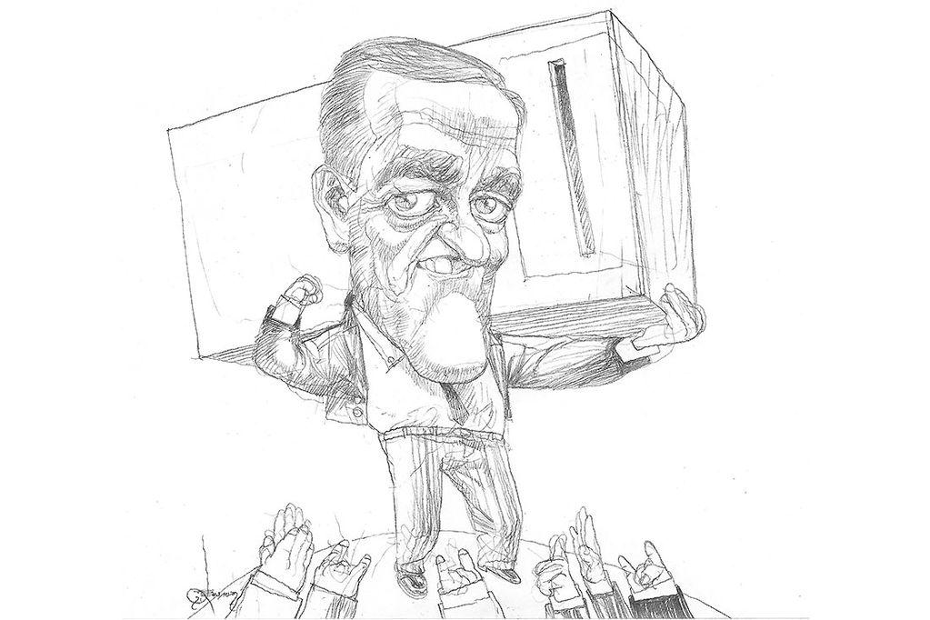 El protagonismo de Cornejo será inevitable, en primer lugar porque volverá a ser candidato; y por otra parte porque su temperamento así lo impone. / Foto: caricatura: gabriel fernandez.