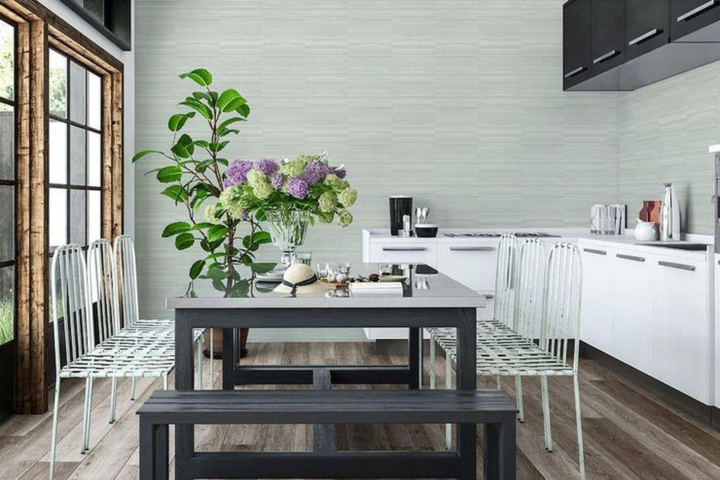 ¡Cambiá el estilo! Cocinas con papel pintado