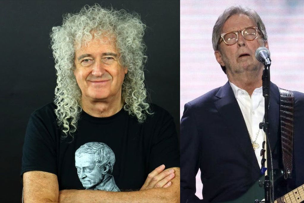 Brian May criticó a Eric Clapton por no querer tocar donde se obligue al público a estar vacunado contra el coronavirus