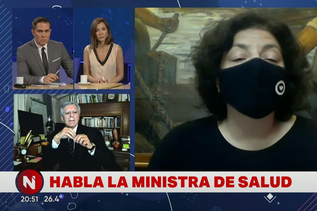 Video: Cristina Pérez incomodó a Vizzotti por el vacunatorio VIP y la promesa de los 10 millones de vacunados