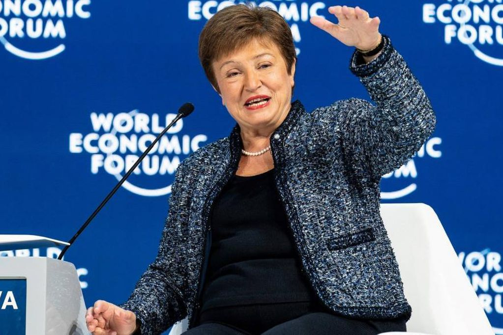 Kristalina Georgieva, actual directora gerente del Fondo Monetario Internacional. (AP)