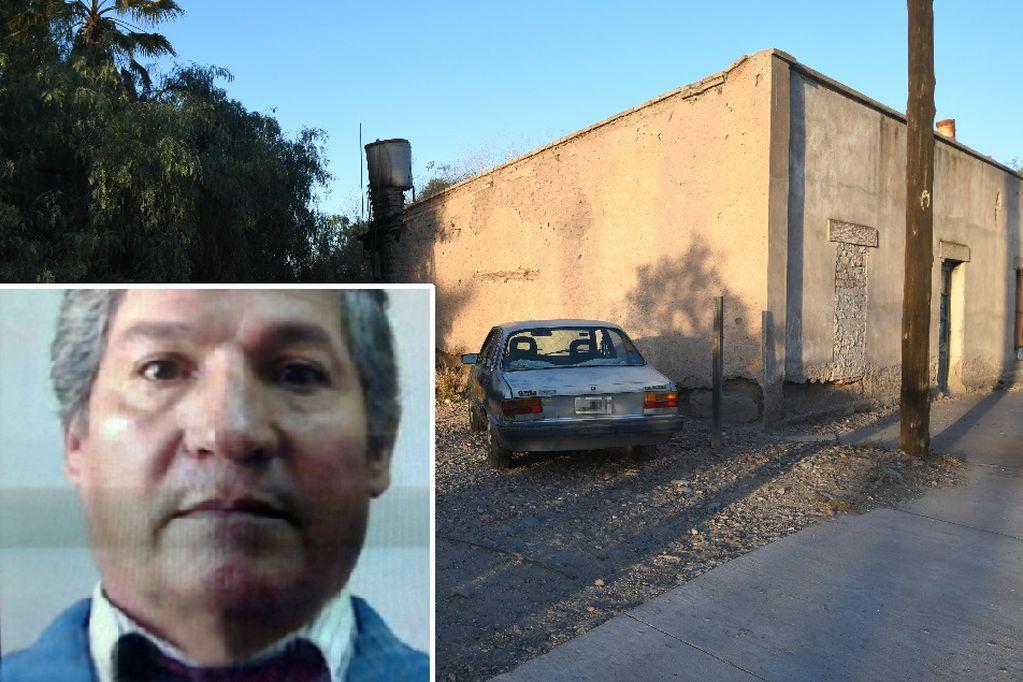 El fallecido y su domicilio, lugar donde lo atacaron y le quitaron la vida. José Gutiérrez/Los Andes