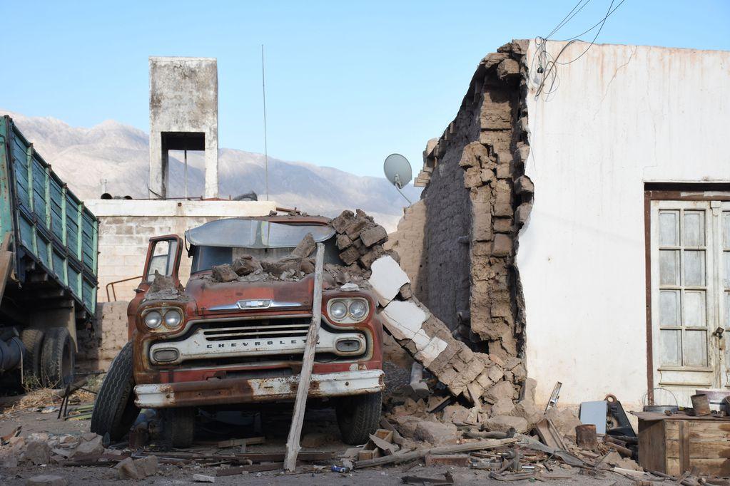 Terremoto de 6,4 escala de Richter dejó daños en San Juan - Gentileza / Diario Huarpe