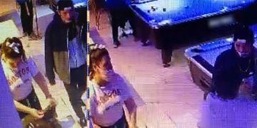 La víctima y el presunto asesino aparecen juntos en un local de esparcimiento