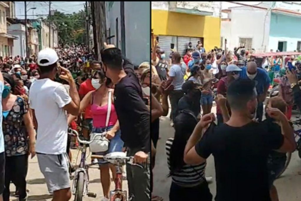 Masiva protestas en Cuba contra el régimen de los Castro. (Captura de video)