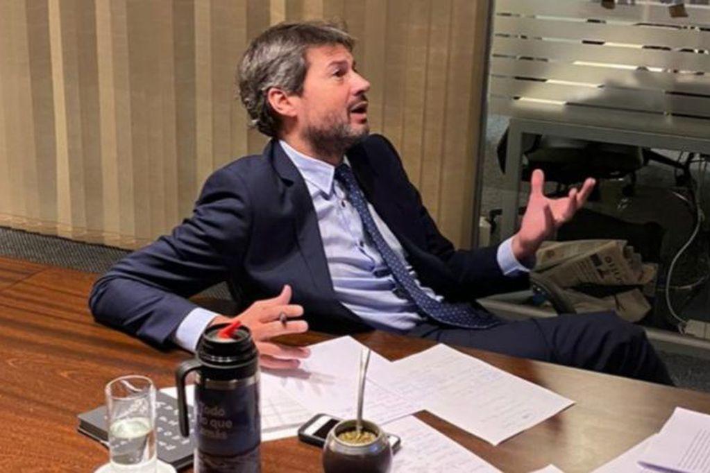 Matías Lammens, se refirió a la posibilidad del regreso paulatino del público a los estadios de fútbol. / Gentileza.