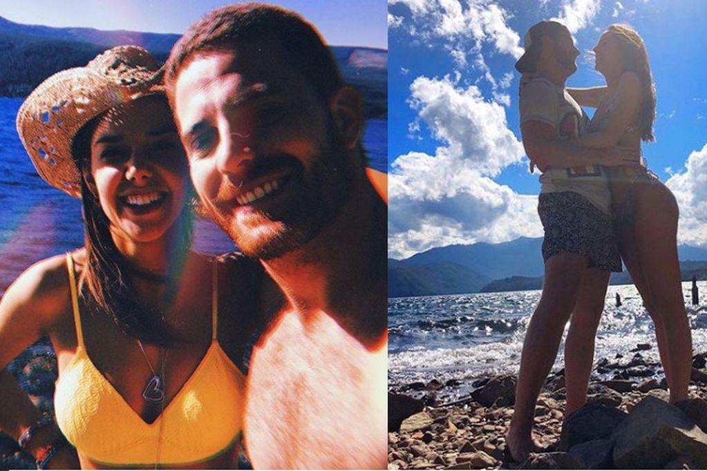 Julieta Nair Calvo presentó a su novio en medio de sus vacaciones en la Patagonia