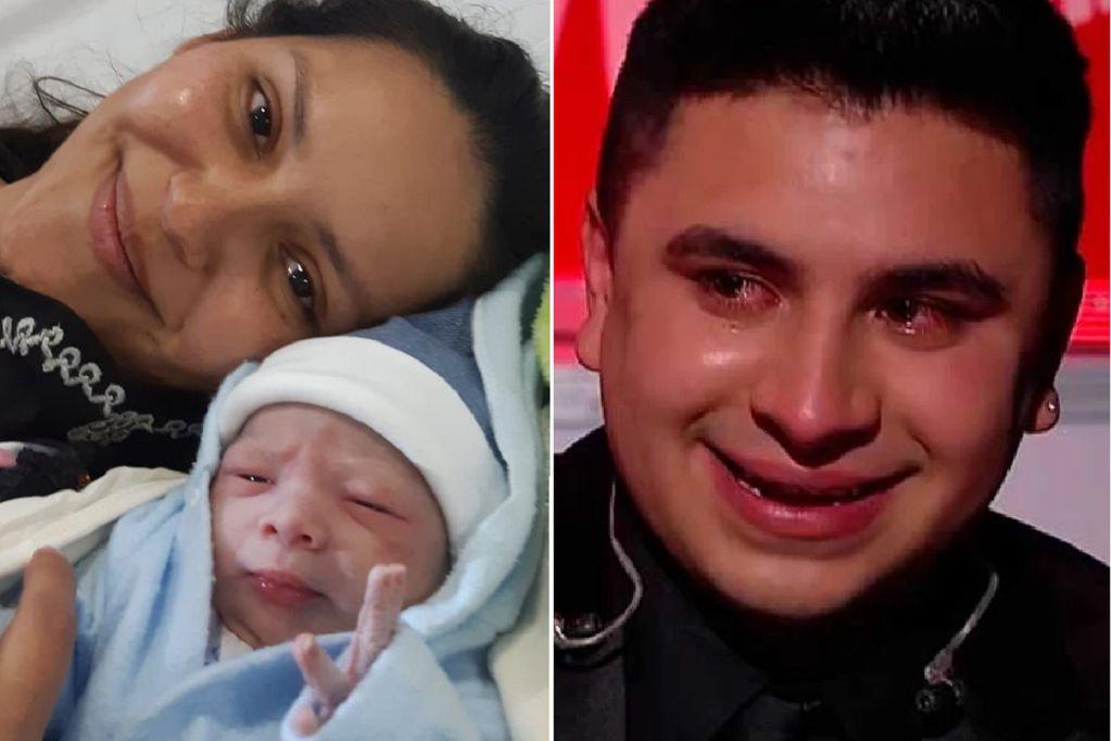 Más alegría para el ganador de La Voz Argentina. Nació Ciro, el hijo de Francisco Benítez. (Gentileza / La Voz)