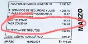Boleta de servicios municipales de una localidad de Pilar