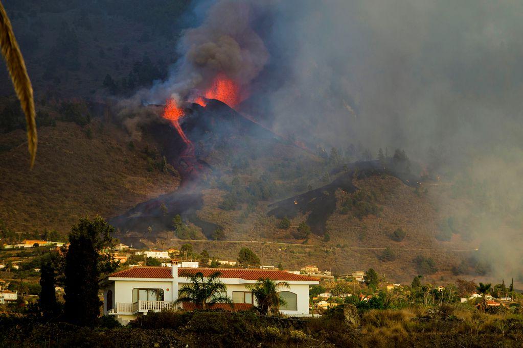 El volcán Cumbre Vieja de la isla española de La Palma.