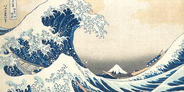 """""""La gran ola"""" (1831) por el artista japonés Katsushika Hokusai."""