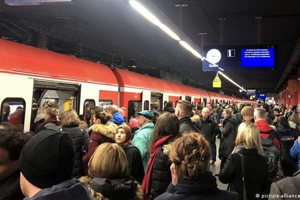 Masiva huelga de ferroviarios en Alemania por reclamo salarial. Archivo