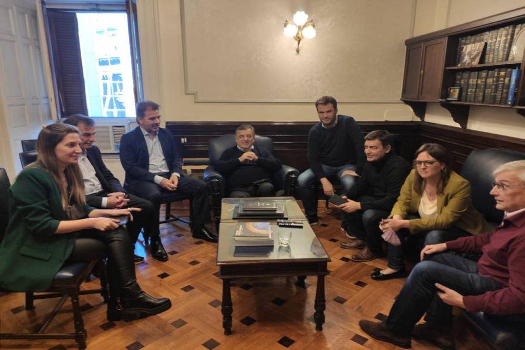La mesa del interbloque Juntos por el Cambio exigió volver a la presencialidad plena (Foto Prensa UCR)
