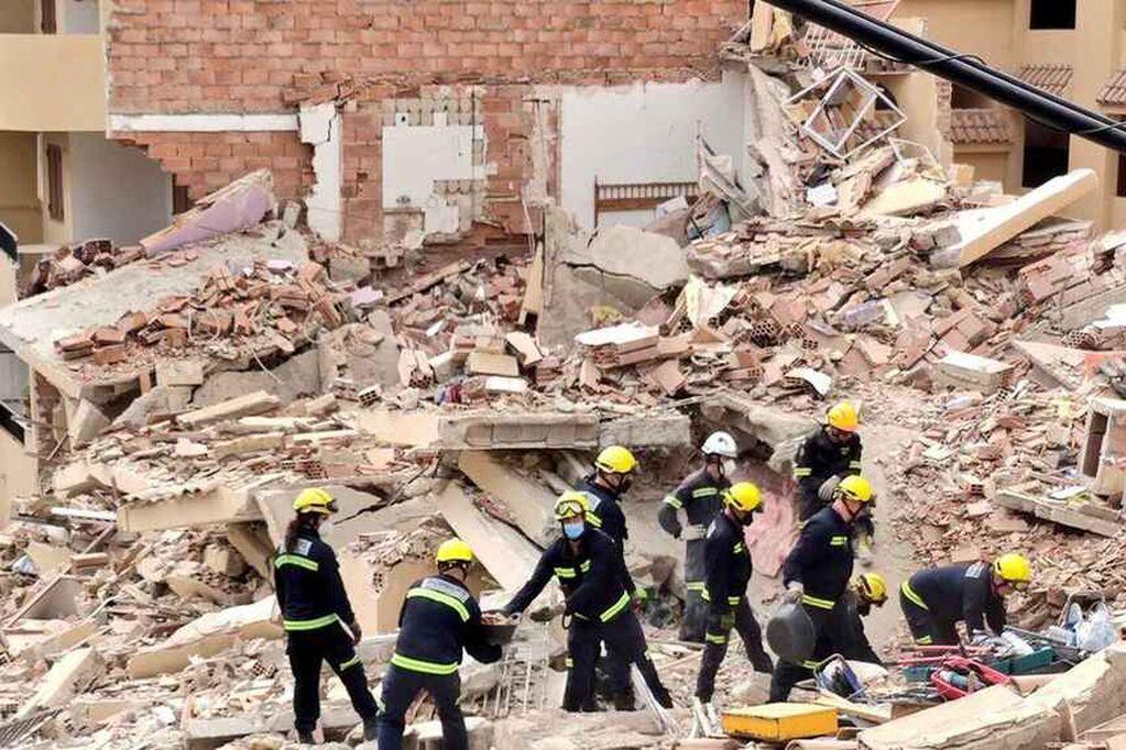 En el derrumbe en Peñíscola, el hombre perdió a su esposa y su hijo de 15 años.