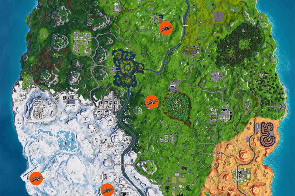 Fortnite: nieve, Papá Noel y dónde encontrar los aviones en la temporada 7