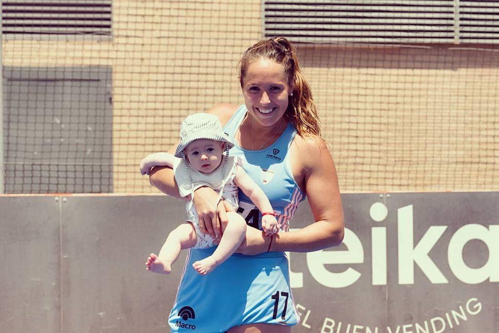 Las fotos más tiernas de la Leona Rocío Sánchez Moccia con su beba de cuatro meses