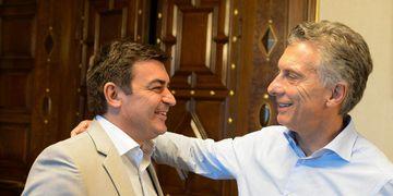 Omar De Marchi y Mauricio Macri.