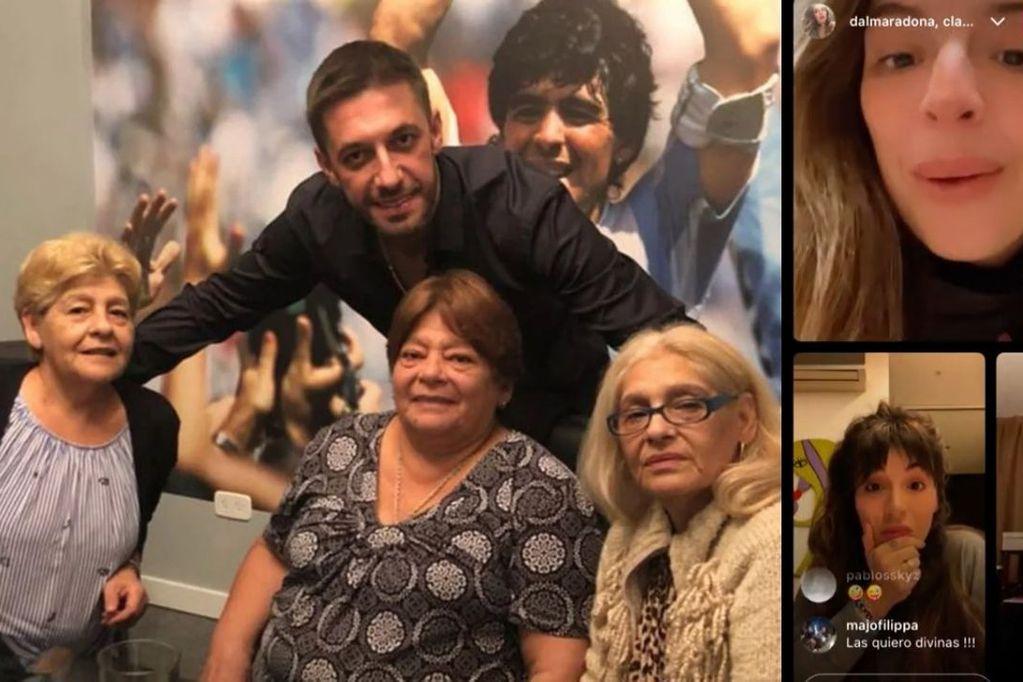 Dalma y Gianinna Maradona le respondieron a las hermanas de Diego en un picante vivo de Instagram