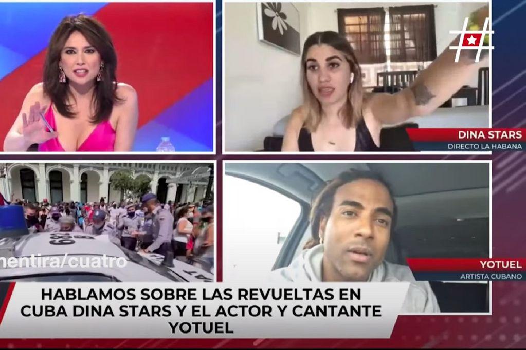 Video: así detuvieron a una youtuber cubana mientras hablaba por TV sobre las protestas