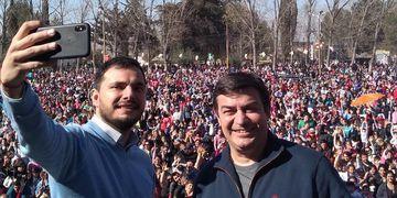 De Marchi junto con su sucesor, Álvaro Martínez/Bien Cuyano