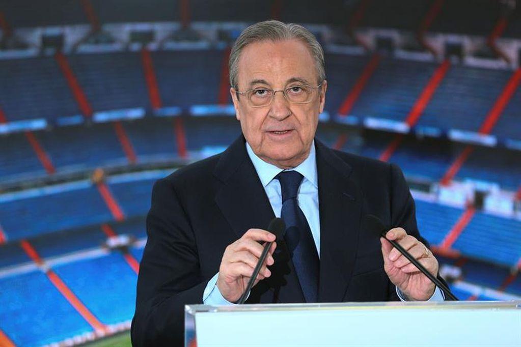 Florentino Pérez se desligó del escándalo por el alejamiento de Messi del Barcelona. / archivo