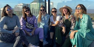 """Las actrices de """"Separadas"""" y muy amigas, compartieron una tarde de sol y muchas risas"""