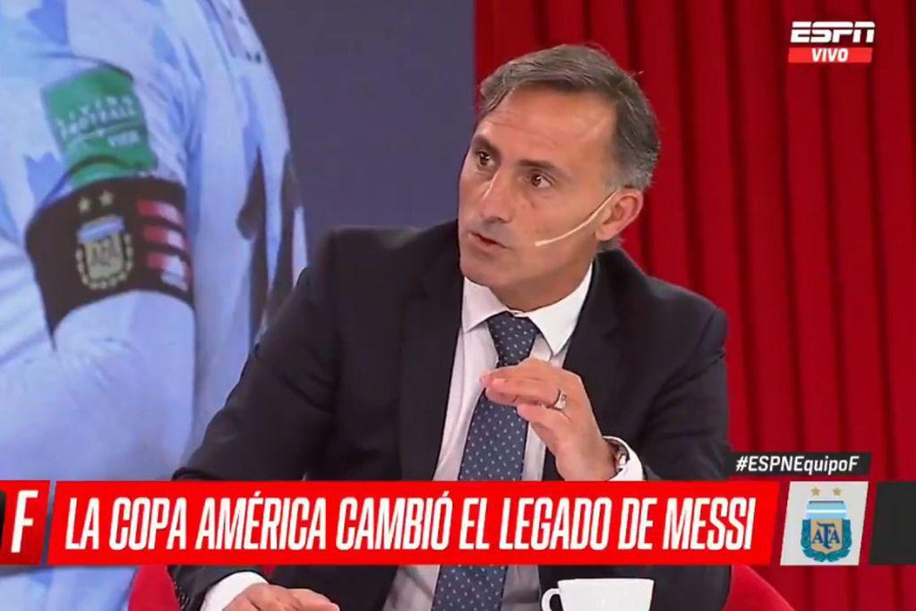 """Diego Latorre y un mensaje a los más jóvenes: """"En lugar de mirar los tatuajes o el pelo, copien el ejemplo de Messi"""""""