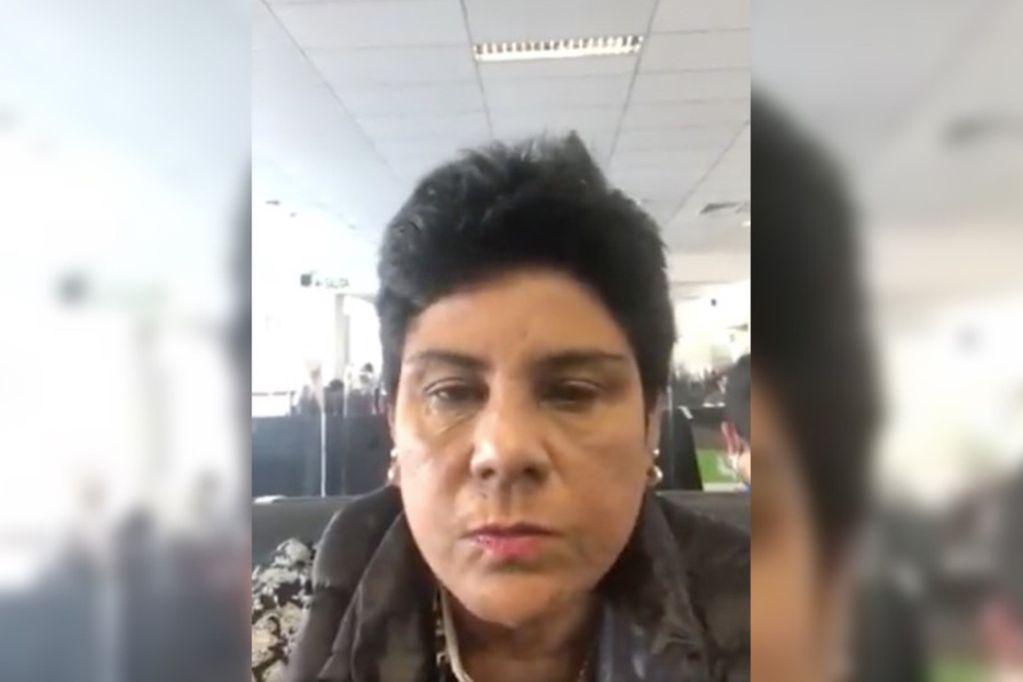 Norma Yarrow aceptó que ella es quien aparece en el video y explicó la situación.