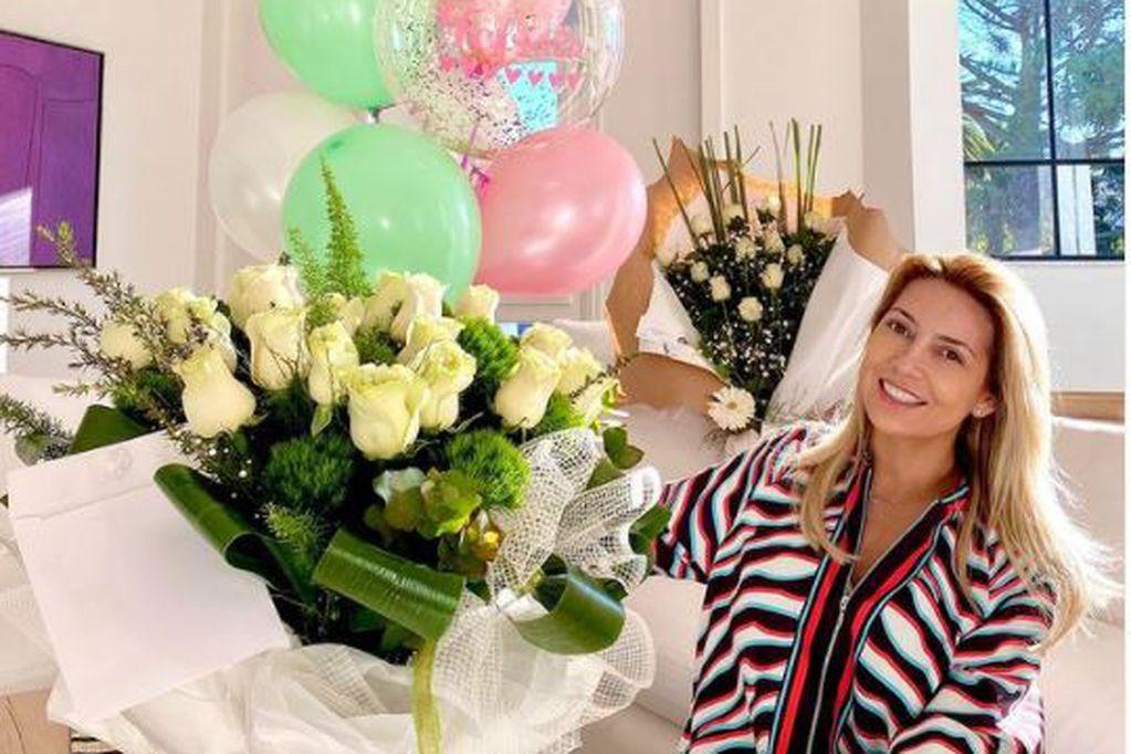 Fabiola Yáñez el día de su cumpleaños.