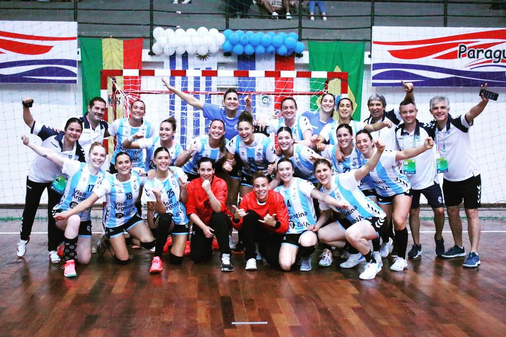 Felicidad de Argentina por la clasificación al Mundial de España.