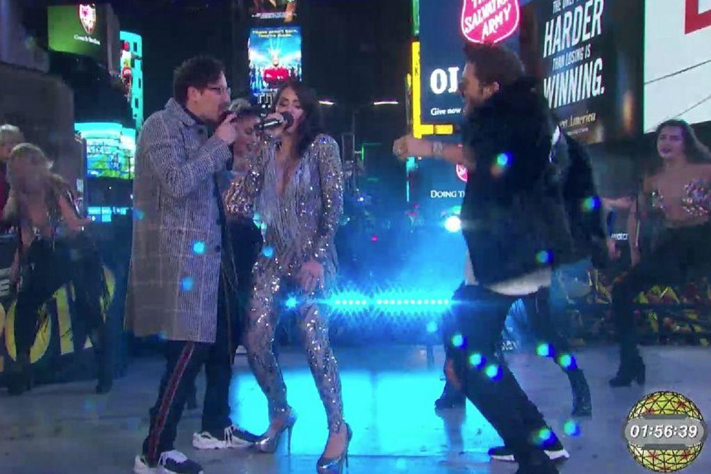 Lali Espósito hizo historia y recibió el 2019 con un show en Times Square