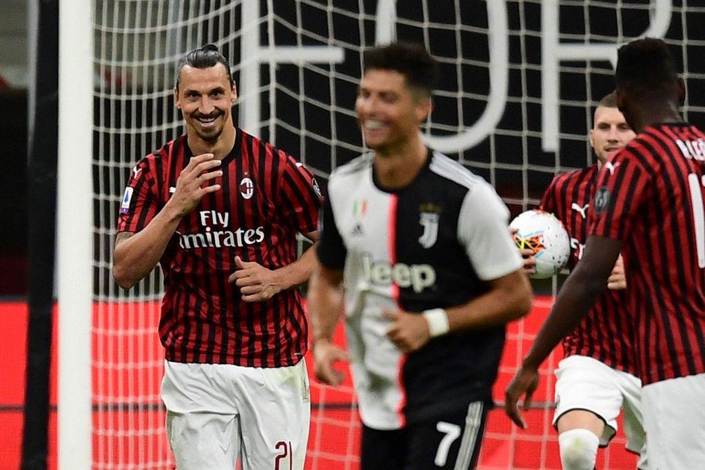 Zlatan Ibrahimovic descontó de penal y arrancó la remontada del Mián que goleó al puntero por 4-2. / Gentileza.