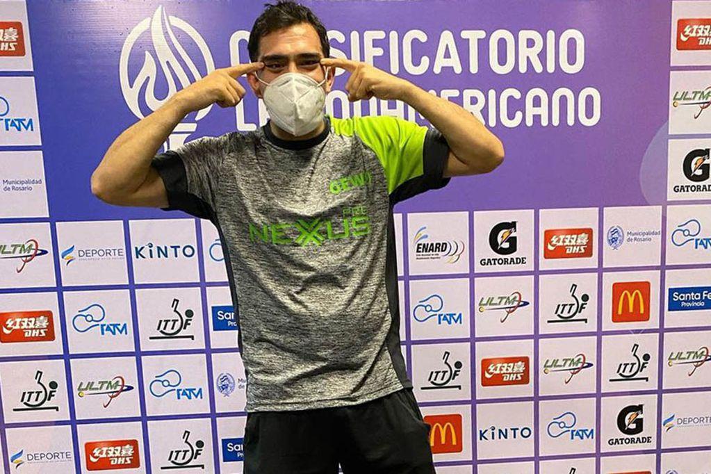 Gastón Alto, jugador de tenis de mesa mendocino que luchará por una medalla en Japón. / Los Andes