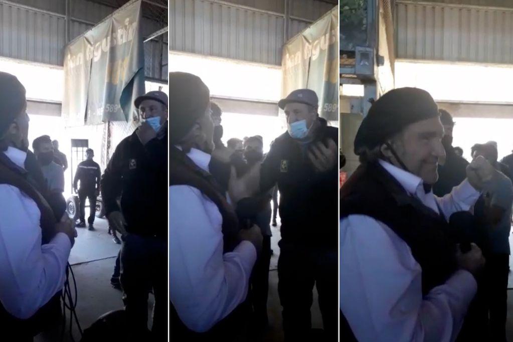 El diputados José Luis Ramón se encontró con un hombre que le reprochó su pase al kirchnerismo. Captura de video