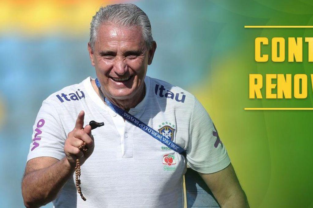 Tité seguirá siendo el DT de la selección brasilera