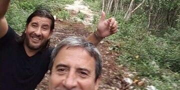 """Roberto """"Nuno"""" Molina, el ex futbolista mendocino que se fue a vivir al medio de la selva mexicana."""