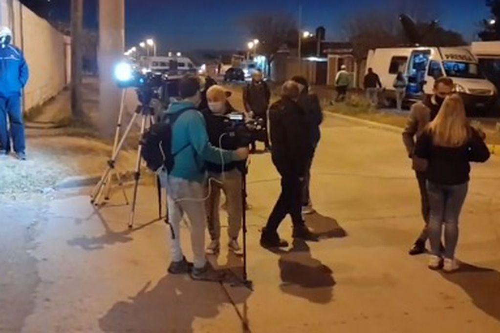 Intenso operativo en el Barrio 544 Vivienda en San Luis.