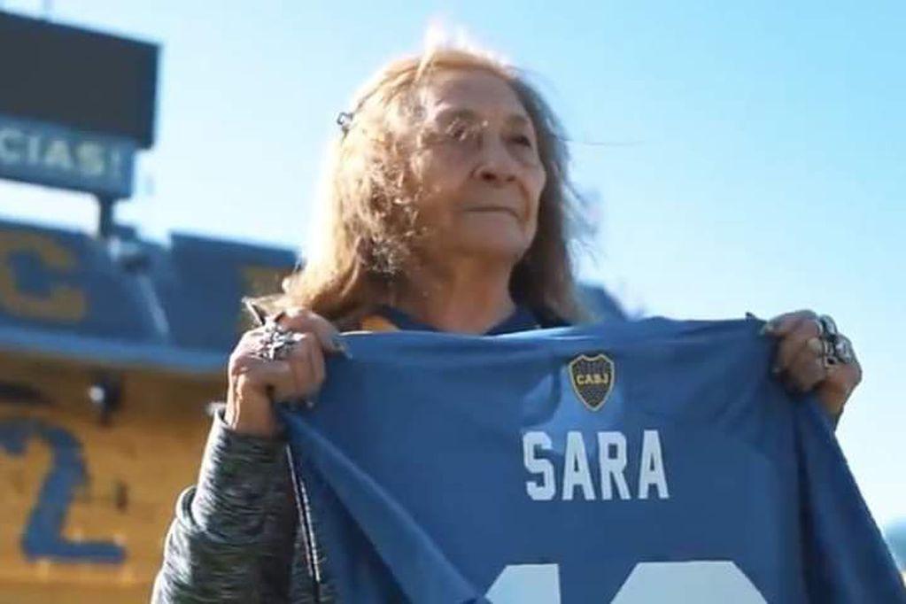 La santiagueña de 82 años viajó para conocer La Bombonera.